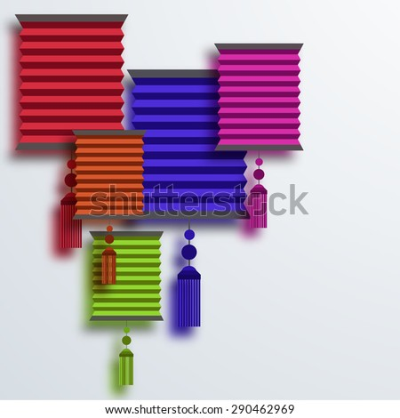 modern paper lantern creative background. Eps10