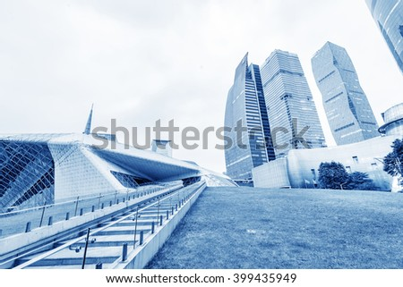 modern skyscrapers in Guangzhou, China