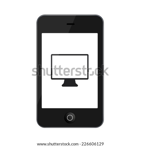 modern smartphone isolated on white background. Technology icon - stock photo