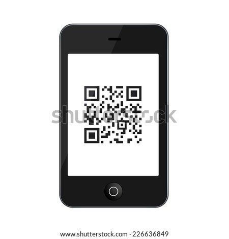 modern smartphone isolated on white background. Technology icon