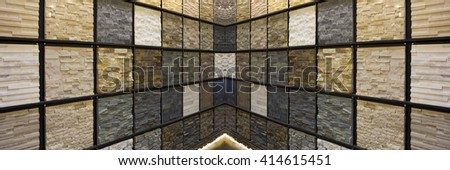 Modern stone wall texture - stock photo