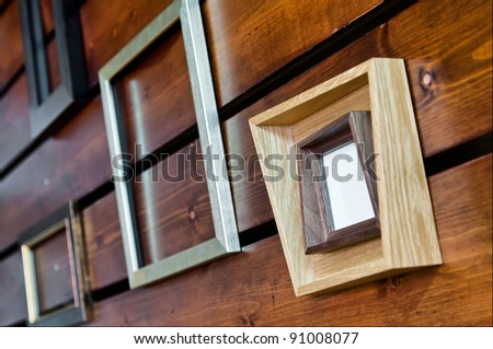 modern style photo frame - stock photo
