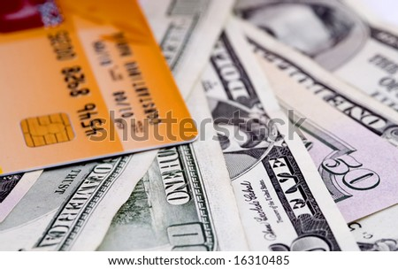 Money and credit  cards - stock photo