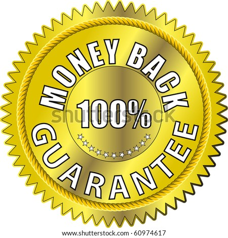 100% money back guarantee - stock photo