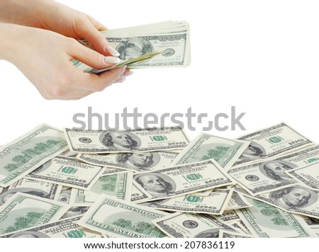 money isolated on a white - stock photo