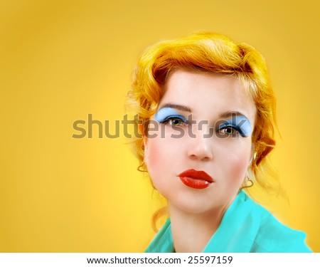 """Monroe"" style woman - stock photo"