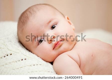 4 month Baby Girl  - stock photo