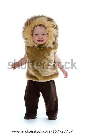 18 Monthold Baby Boy Lion Costume Halloween Stock Photo u0026 Image (Royalty-Free) 157927757 - Shutterstock  sc 1 st  Shutterstock & 18 Monthold Baby Boy Lion Costume Halloween Stock Photo u0026 Image ...