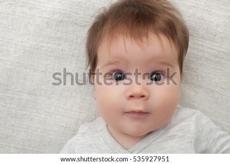 3 months old lovely baby portrait