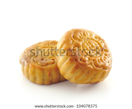 mooncakes on white background