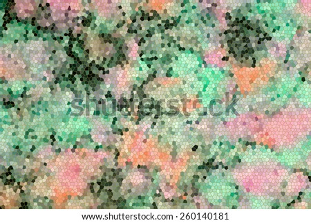 mosaic background with tie dye fabric.  - stock photo