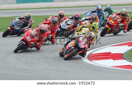 2006 MotoGP Sepang F1 International Circuit Malaysia - 500cc race in action. - stock photo
