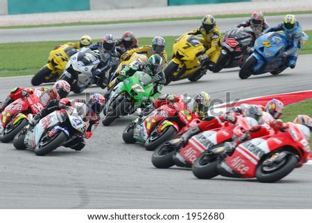 2006 MotoGP Sepang F1 International Circuit Malaysia - 500cc race in action. - stock photo