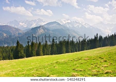 mountain landscape, Tatry, Poland - stock photo