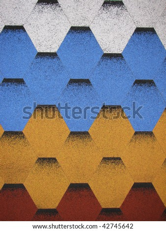 multi-colored roof ( roof tiles) - stock photo