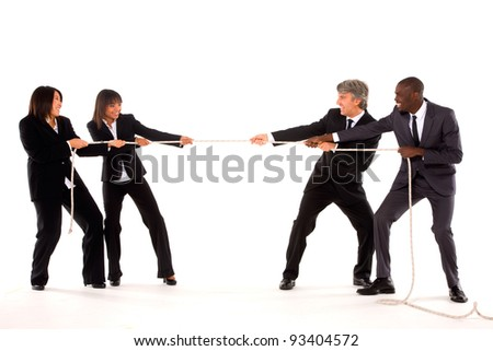 """multi-ethnic team - stock photo"