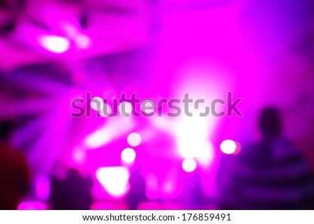 Music concert background blur - stock photo