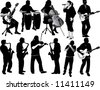 11 musicians - stock photo