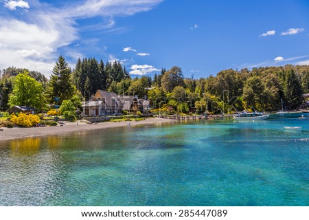 Nahuel Huapi National Park beautiful harbor - stock photo