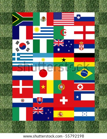 32 National flag football 2010 Pattern on the grass