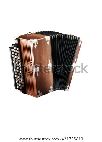 national musical instrument accordion - stock photo