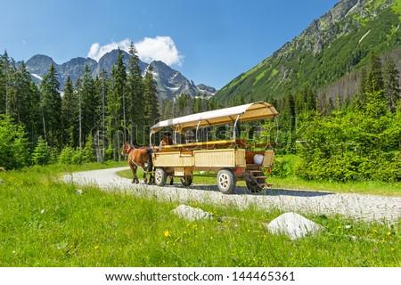 National Park in the Tatra Mountains, Poland - stock photo
