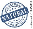 100% natural product stamp - stock photo