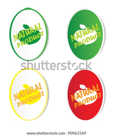 Natural product stickers