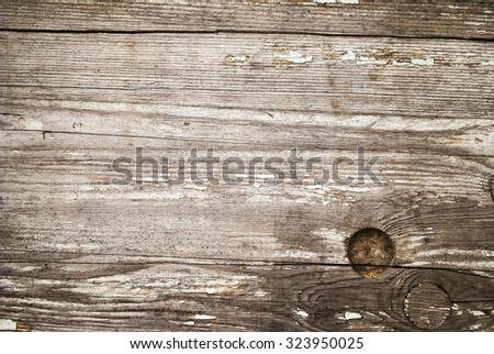Natural Unpainted Weathered Wood Wall Planks Panel Background Texture - stock photo