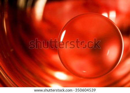 Nature background red, abstract water drops macro. - stock photo