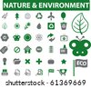 36 nature & environment sings. raster version - stock vector