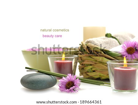 nature spa still life with incense stick