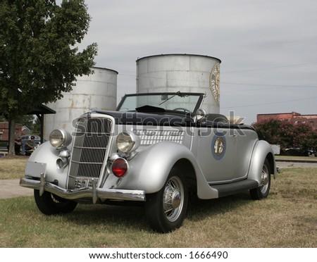 1935 NC Highway Patrol car - stock photo