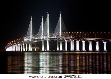 2nd Penang Bridge, Malaysia - stock photo