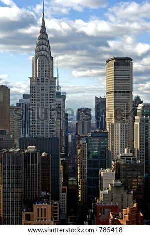 42nd street in New York - stock photo