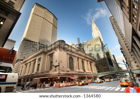 42nd street - manhattan - new york - grand central - stock photo