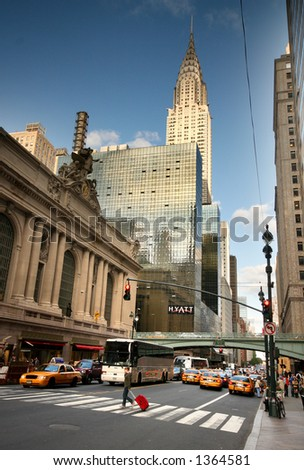 42nd street - manhattan - new york - grand central - stock photo
