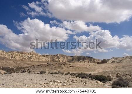 negev desert landscape - stock photo