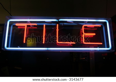 """neon sign series"" tile"