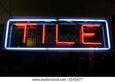 """neon sign series"" tile - stock photo"