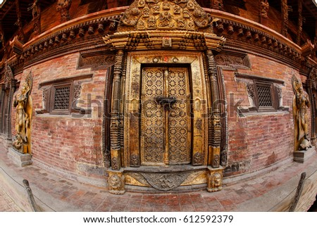 [NEPAL] Wooden old window  vintage texture background