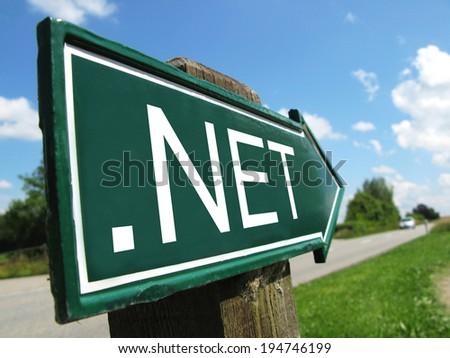 .Net signpost along a rural road - stock photo