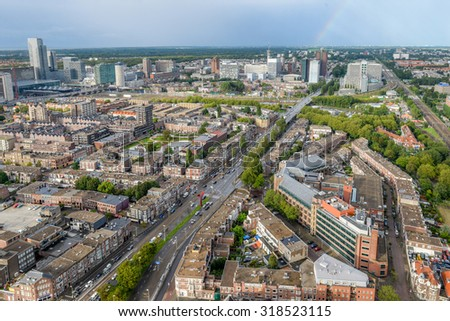 24.08.15 - Netherlands - Hague - editorial - Europe aerial view