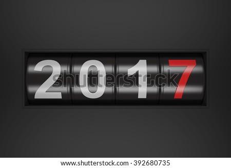 New Year 2017  - stock photo