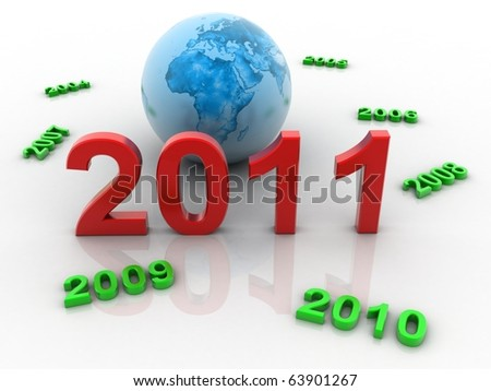 2011new year - stock photo