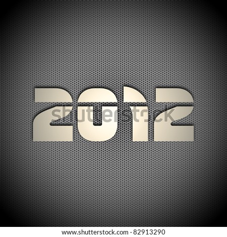 2012 new year background - stock photo