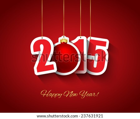 2015 New year background. Vector available. - stock photo