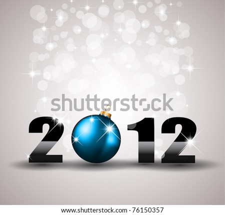 2012 New Year Celebration Background with Glitters - stock photo