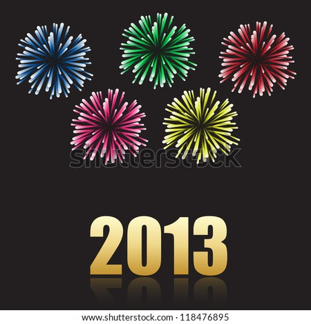 2013 new year celebration. Vector available.