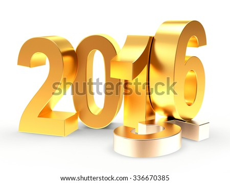 2016 New Year concept. 2015 changed to 2016 isolated on white background